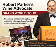 Brochures design - Robert Parker's Wine advocate - Grand World Tour Flyer