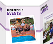 Brochures design - Massage Event Pros Accordeon Brochure