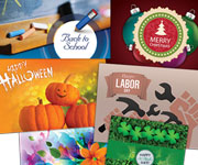 Flyers design - Holidat Cards, 4th of July, Back to School, Christmas, Halloween, Hanukkah, Happy  Holidays, Happy New Year, Labor Day, Memorial day, Spring is in Bloom, St. Patrick's Day, Thanksgiving,  Valentine's Day, Welcome to Summer