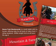 Flyers design - Horse Trek Monteverde Flyer