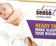 Flyers design - Sleep Sense Consultant postcard