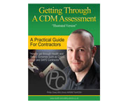 Other designs - Getting Through a CDM Assessment book cover and back design