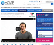 web site development - ACMP, Australian College Of Modern Psychology, modernpsychologycollege.com.au