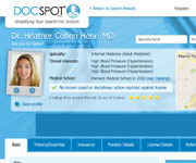 web site development - Doc Spot, Simplifying Your Search For Doctors - http://www.docspot.com/