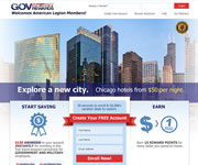 web site development -GOV Vacation Rewards, American Lefion Mmbers