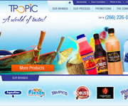 web site development - Tropic, A world of Drinks! - http://tropicsa.com/